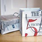 Cách làm túi bằng giấy báo
