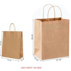 Túi giấy màu nâu
