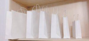 túi giấy tông trắng